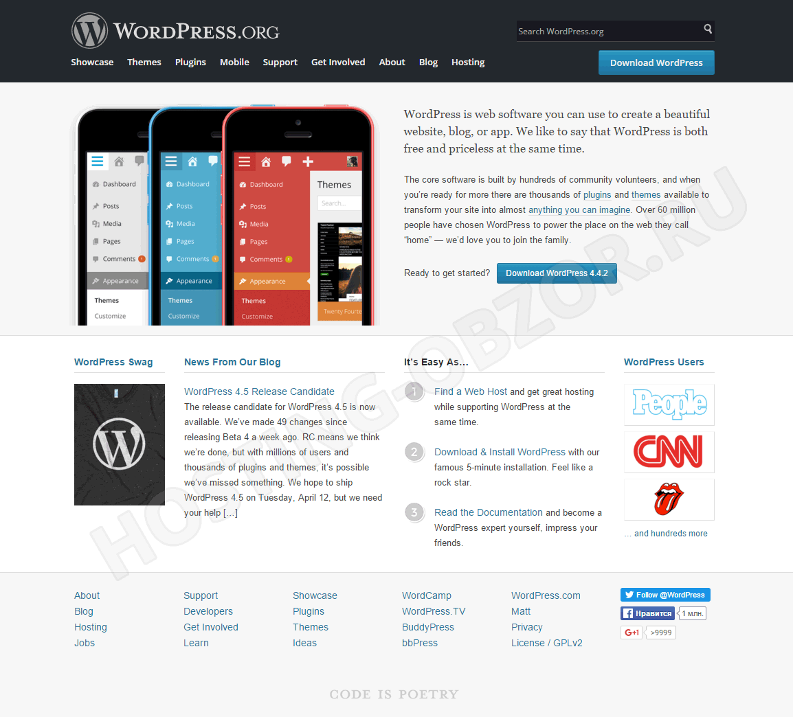 Требования хостинга для wordpress законы композиции и создание сайтов